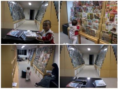 amin perpustakaan - ruang baca buku
