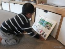 Fadhil suka membaca buku bergambar